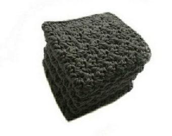 Handmade Cotton Dish Wash Cloth Set of 4-Gray
