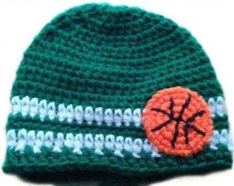 Custom Personalized Baby Unisex Boston Celtics Basketball Sports Beanie/Unisex/Photo Prop