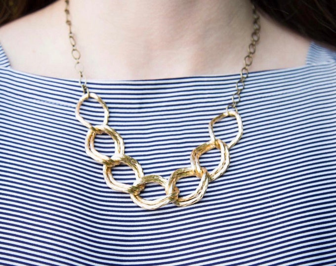 Featured listing image: Gold Statement Necklace