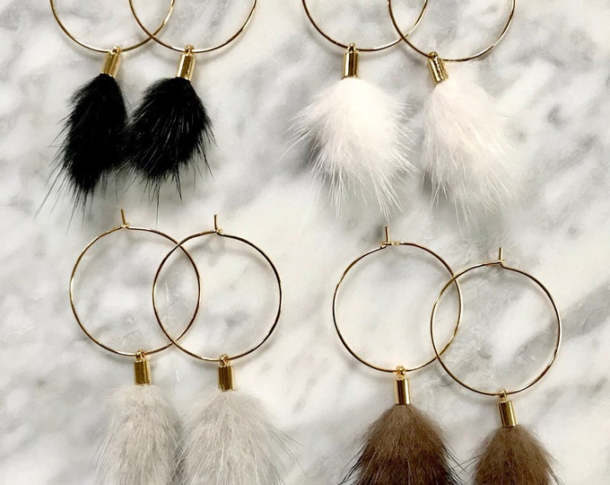 Featured listing image: Faux fur hoops