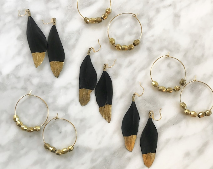 Featured listing image: Fall Brass Hoops