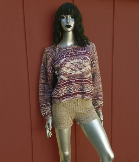Cottagecore vintage cropped sweater!