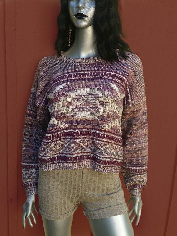 Cottagecore vintage cropped sweater! - image 2