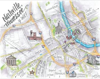 Watercolor Florida Map.St Petersburg Florida Map Watercolor Illustration Print On Etsy