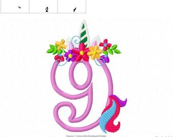 Unicorn number nine 9 with flowers crown , Unicorn Tail Birthday number NINE, 9 Unicorn number birthday outfit, Unicorn rainbow  4x4 5x7