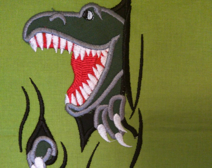 Front and Back of T-rex dinosaur - 2 pcs - machine embroidery applique designs - 4x4, 5x7, 6x10