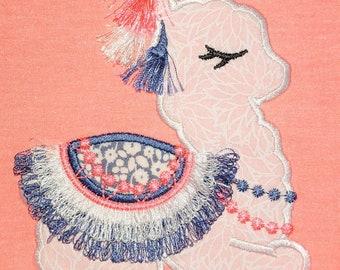Tassels Llama, Fringed tassel applique, Lama boho, tassel, llama, ITH In the hoop machine embroidery design