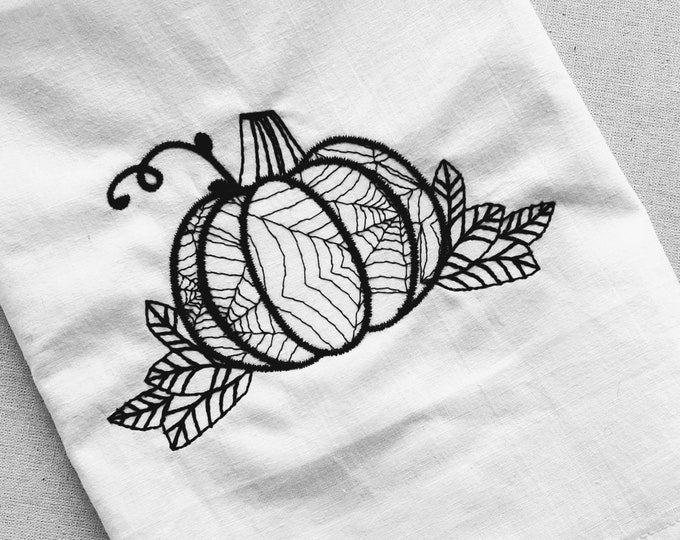Halloween scene, pumpkin leaves sketch light stitch embroidery designs  4x4, 5x7, 8x8 6x10 lacy spiderweb outline embroidery designs