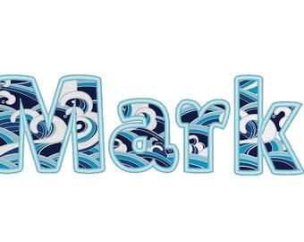 "Monogram applique Font machine embroidery applique designs, monogram, alphabet, letters 1.2, 1.5, 2, 2.5, 3, 4, 4.5"" PES and BX included!"