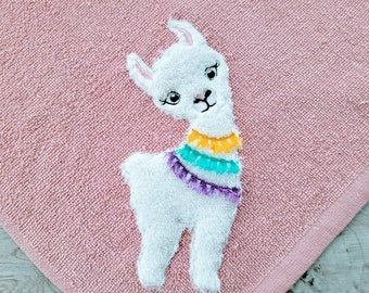Little Llama with tassels, fringed tassel applique Lama boho ITH in the hoop machine embroidery design sizes 4x4, 5x5, 6x6, 8x8 applique