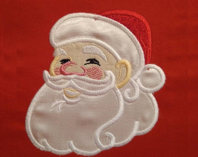 Santa Claus and  Mrs. Claus appliques set Merry Christmas machine embroidery designs 2 separate designs 4x4 and 5x7