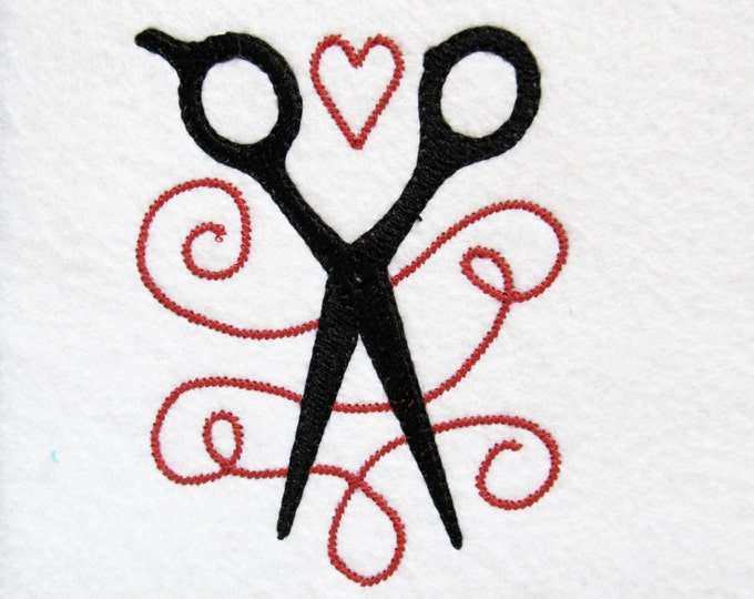 Hairstylist embroidery design 3, 4, 5 and 6 inches  INSTANT DOWNLOAD