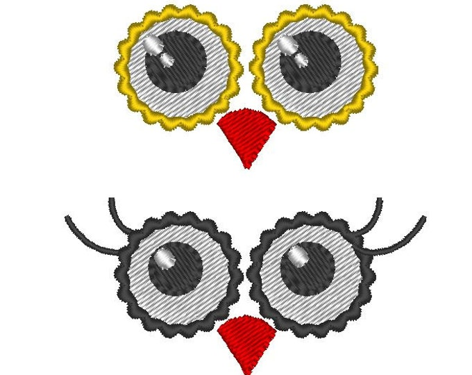 Your Toy eyes - owl whimsy eyes - set of 2 types - machine embroidery designs - multiple sizes for  4x4  INSTANT DOWNLOAD