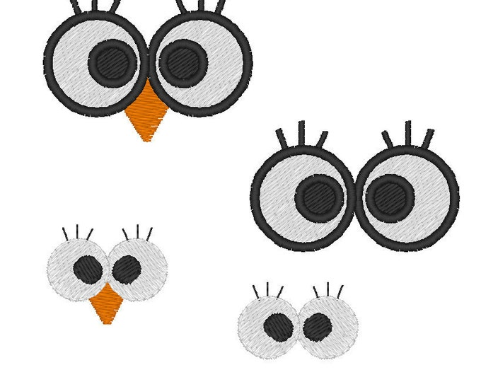 Your Toy eyes - owl eyes - INSTANT DOWNLOAD - machine embroidery designs - 7 types for  4x4