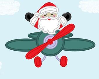 santa in airplane etsy