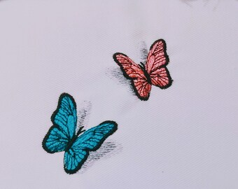 Two Realistic small mini Butterfly Dimensional, 3D shadow Butterflies embroidery design Artapli Awesome embroidery designs