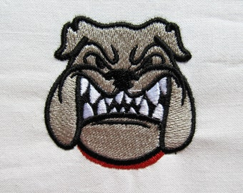 Bulldog mini fill design mascot - machine embroidery fill stitch designs  INSTANT DOWNLOAD
