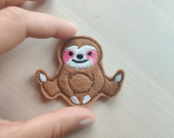 MINI Sloth light stitch outline feltie small vinyl sloth machine embroidery design embroidery designs  2, 2.5 and 3 inches