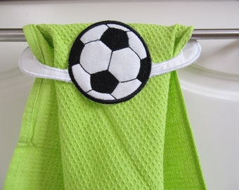 Soccer Towel topper machine embroidery ITH project designs 5x7 - In the hoop embroidery  INSTANT DOWNLOAD