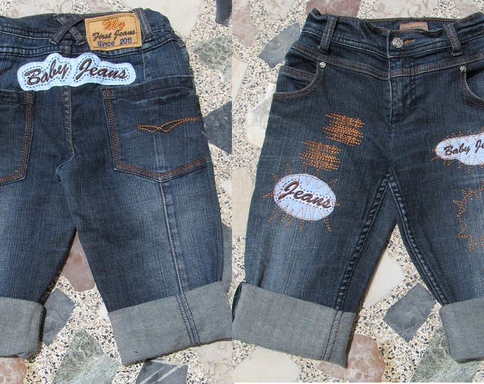 Make cute baby jeans - embroidery designs - machine embroidery designs- multiple sizes for hoop 4x4, 5x7 and 6x10