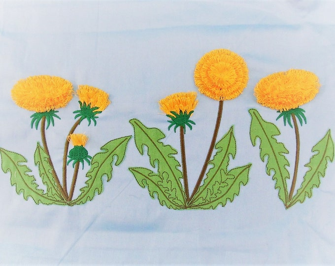 Dandelion awesome mini sizes collection - 7 designs - machine embroidery designs, for hoop 4x4  In the hoop summer flower embroidery design