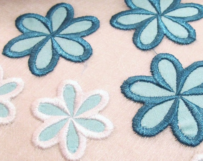 Daisy flower - applique designs - INSTANT DOWNLOAD - small sizes