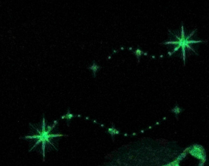 Falling stars 3 types multiple sizes - glow in the dark theme - embroidery machine designs, add-ons, many sizes