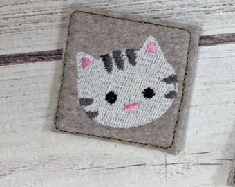 Kitty cat little small wee micro face mask decoration mini embroidery design assorted sizes