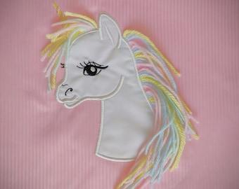 Unicorn head applique  - machine embroidery designs applique Rainbow unicorn embroidery pretty Rainbow unicorn head face INSTANT DOWNLOAD