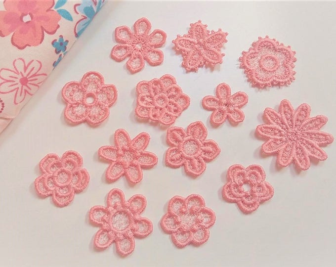 Mini delicate lace flowers big collection  FSL flower mini, Free standing lace embroidery design 4x4 assorted sizes MINI project 13 types