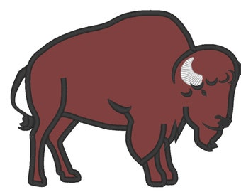 Classic Bison buffalo Silhouette simply Machine embroidery applique designs assorted sized 4, 5, 6, 7, 8 inches  INSTANT DOWNLOAD