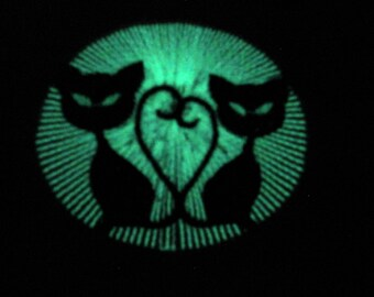 Cats / Glow in the dark special designed machine embroidery / sizes 4x4 and 5x7 / file INSTANT DOWNLOAD