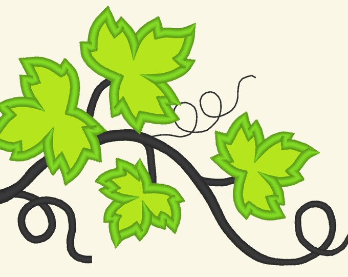 Big vine, wine leaves, wine leaves vine, vine leaf, leaves, vine - machine embroidery applique and fill in designs,  multiple sizes