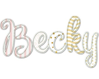 """BX included! Free Edge Raggedy Applique Alphabet Font machine embroidery designs assorted sizes 1.3, 2, 3 up to 5"""" uppercase, lowercase font"""