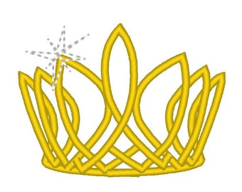 Princess crown, diadem, tiara for little girls machine embroidery designs and applique designs - 2, 3, 4 and 5 inches INSTANT DOWNLOAD