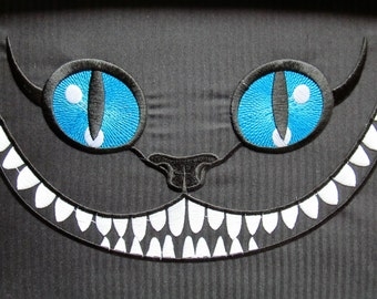 The Cheshire Cat machine embroidery designs - download 4x4, 5x7 and 6x10