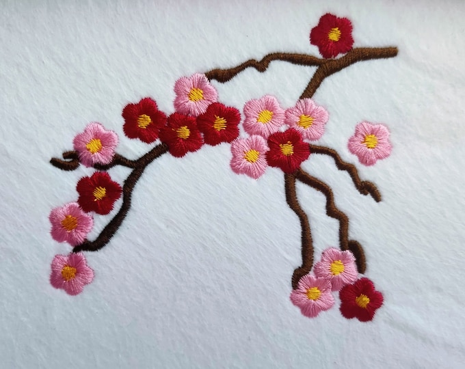 Cherry Blossom mini for embroidery hoops 4x4, 5x7 and 6x10 INSTANT DOWNLOAD