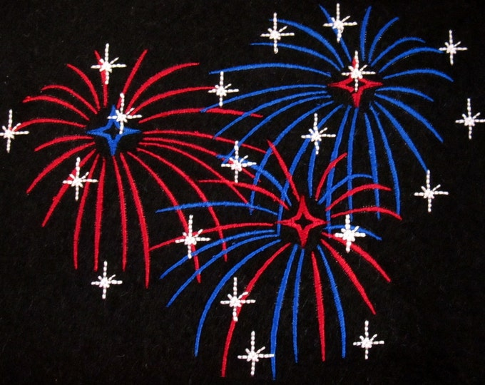 Fireworks  - Fourth of July  - machine embroidery designs - for hoop 4x4, 5x7 and 6x10 INSTANT DOWNLOAD