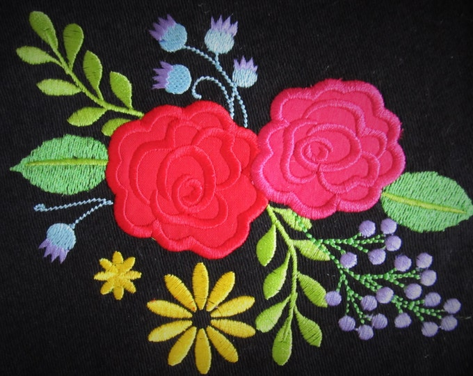 Shabby Chic Flowers, beautiful rose, flower embroidery, simply flowers applique - machine embroidery designs for embroidery  4x4  5x7