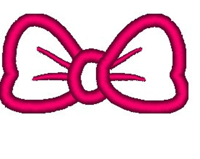 Simply Bow - machine embroidery applique designs - multiple sizes, for hoops 4x4, 5x7, 6x10