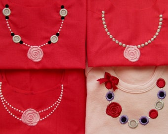 4 types of Necklaces, machine embroidery designs for hoop 4x4 and 5x7 INSTANT DOWNLOAD