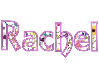 Monogram applique Font machine embroidery applique designs, monogram, alphabet, letters sizes from 1.5, 2, 2.5, 3, 4, 4.5 inches BX included