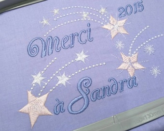 Falling stars big set of different types and sizes - embroidery machine designs, add-ons, many sizes  INSTANT DOWNLOAD