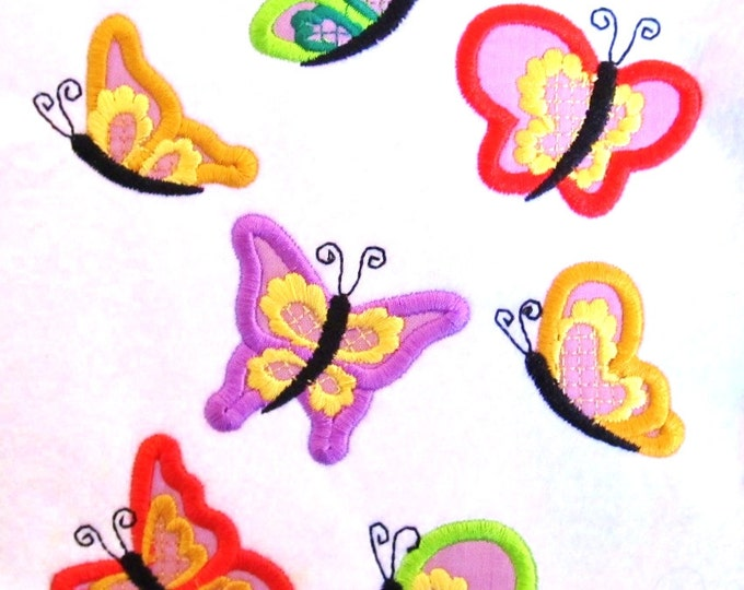 Butterflies mini sizes! great for birthday t-shirts making as add-on - machine embroidery applique design, file - 4x4 INSTANT DOWNLOAD