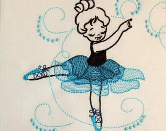 Unique Little dancer embroidery outline designs / 4x4, 5x7 and 6x10, dancer embroidery designs, multiple sizes
