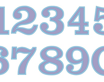 Birthday applique numbers, numbers applique designs, number design, party number, wide satin stitch numbers set, machine embroidery