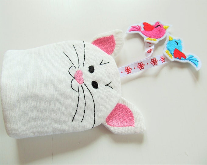 Kitty, key case, key fob, key cover, keys pocket, ITH In The Hoop Machine Embroidery design In-The-Hoop 4x4 5x7
