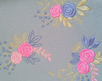 Lace urban MINI Accent flowers, 3 TYPES, machine embroidery designs, set of various, many sizes, mini tiny beautiful roses, rose embroidery
