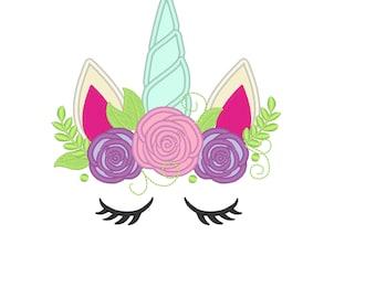 Unicorn Embroidery Etsy