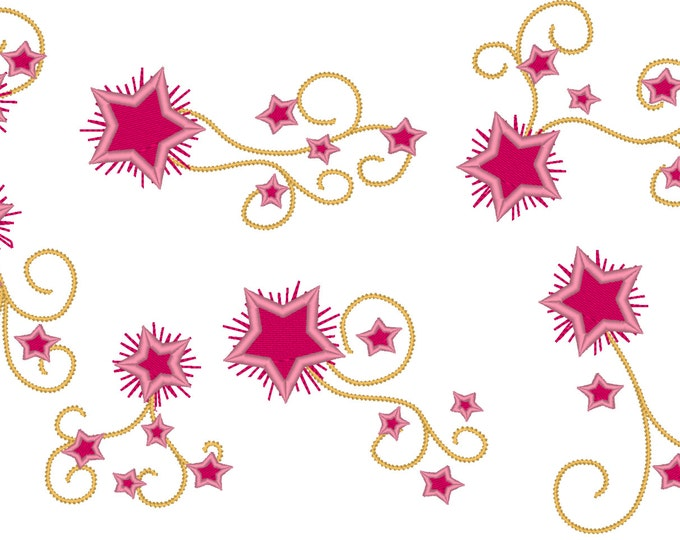 Twinkle Twinkle Little Star for Birthday Number Shirt  - embroidery machine designs, add-ons, many sizes INSTANT